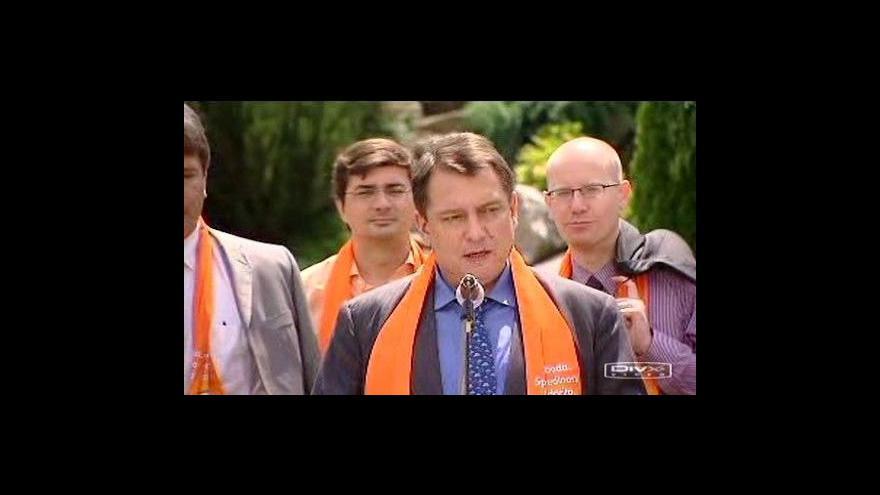Video Brífink ČSSD k předvolebnímu programu