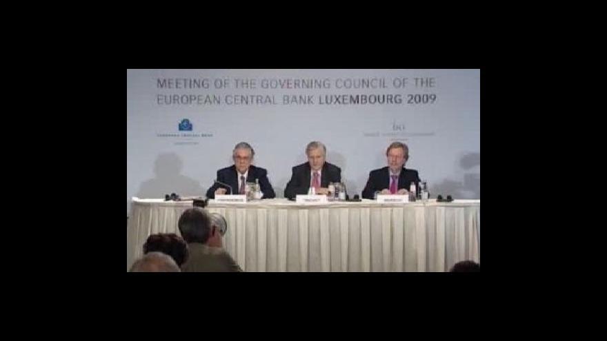 Video ECB na úrokové sazby nesáhla