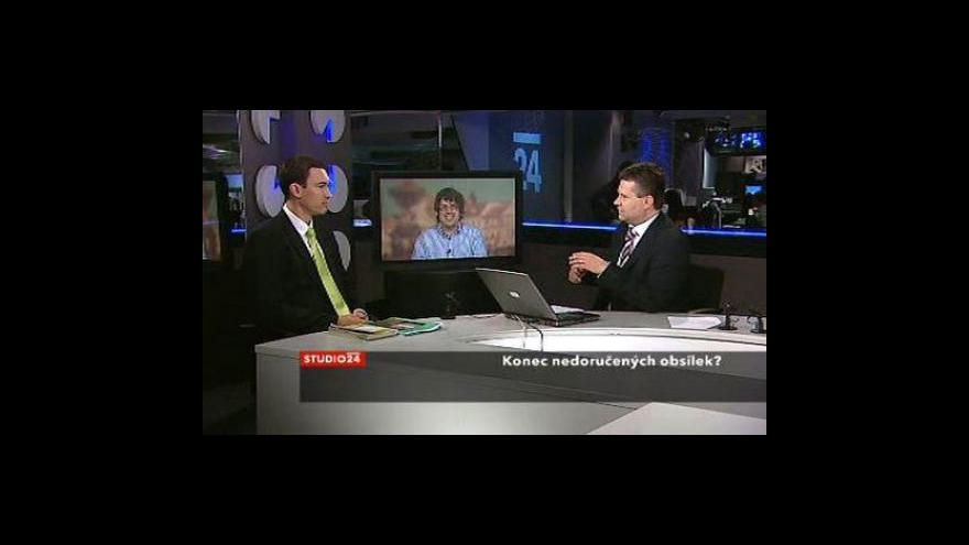 Video Lászlo Hajnal a František Korbel ve Studiu ČT24
