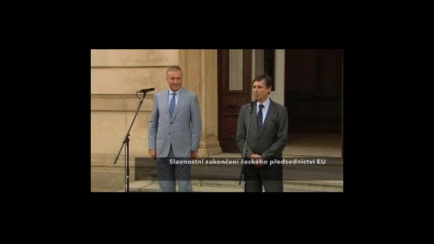 Video Brífink ke skončení českého předsednictví