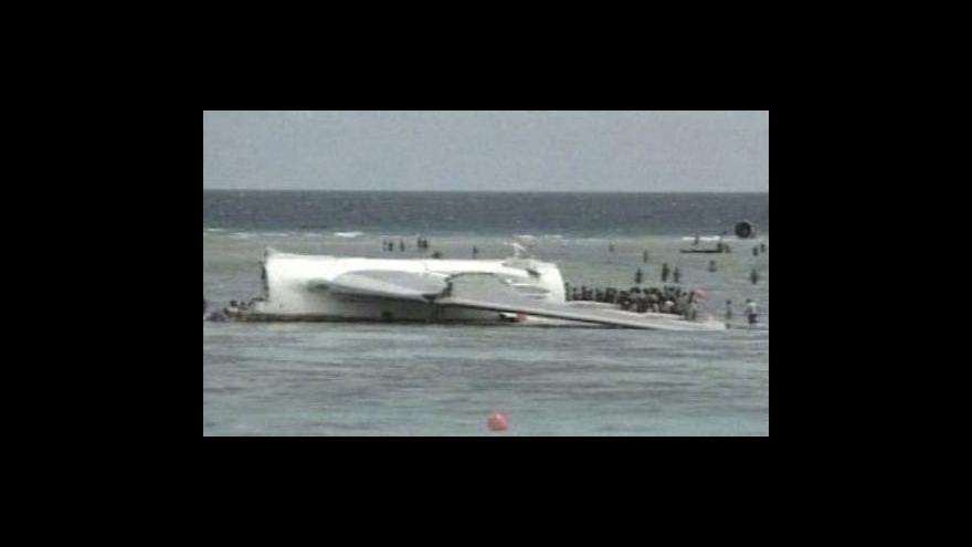 Video U Komor se zřítilo letadlo