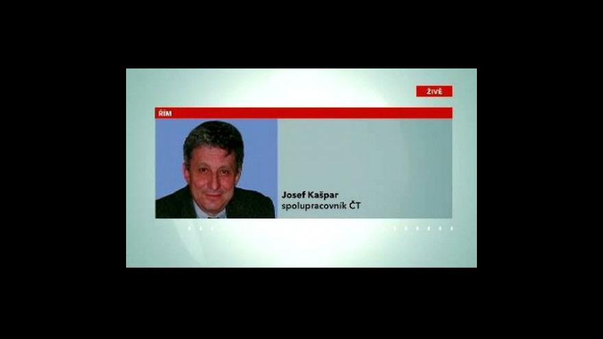 Video Telefonát Josefa Kašpara z Říma
