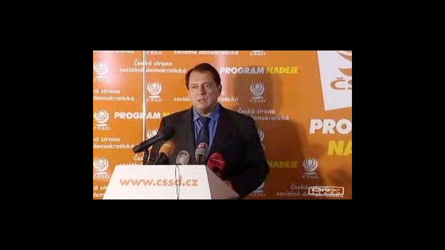 Video Tisková konference sociální demokracie