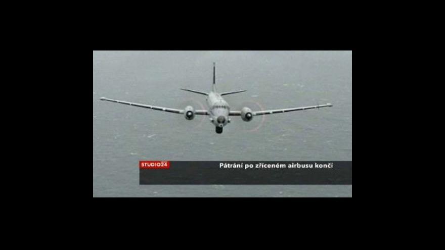 Video Pátrání po zříceném airbusu končí