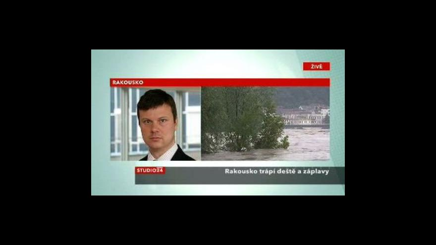 Video Studio ČT24: Rakousko pod vodou