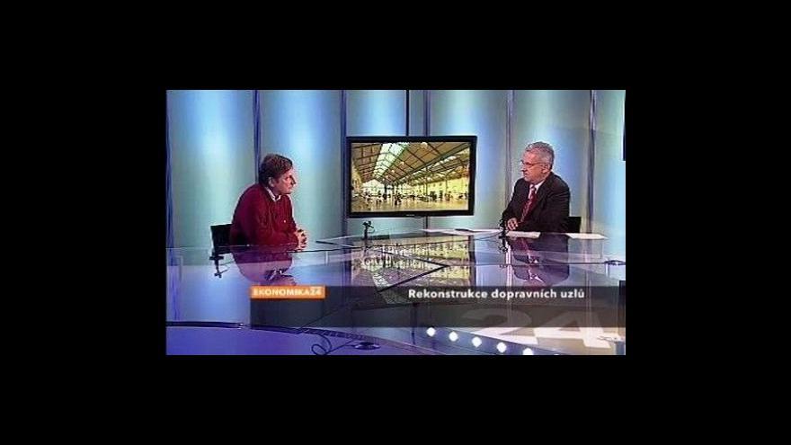 Video Ekonomika ČT24 o rekonstrukci Hlavního nádraží v Praze