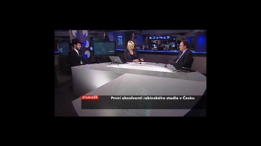 Video Absolvent Josef Gruzman a Tomáš Jelínek ve Studiu ČT24