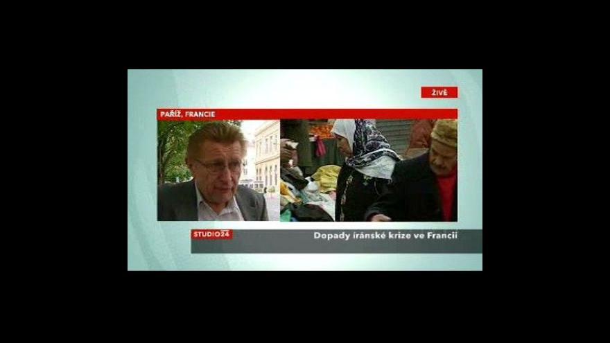 Video Telefonát Jiřího Slavíčka z Paříže