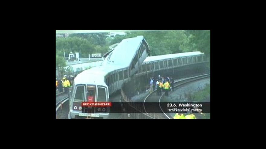 Video Nehoda metra ve Washingtonu