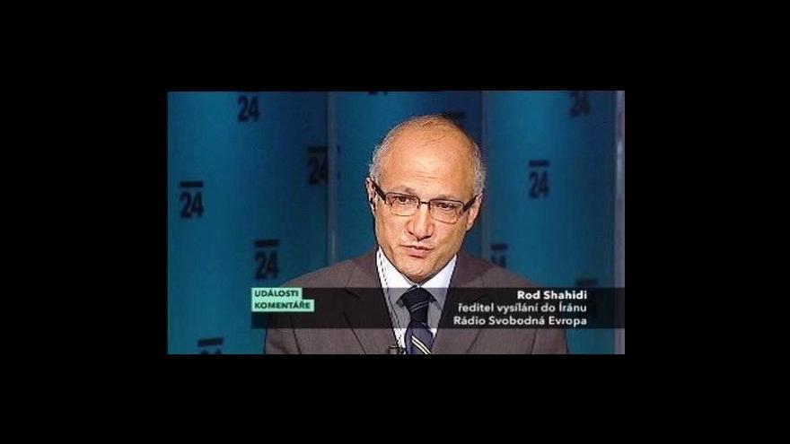 Video Události, komentáře o situaci v Íránu