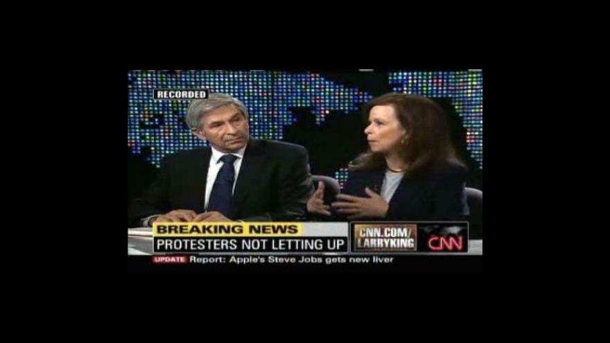 Video Vysílání CNN a komentáře k událostem v Íránu