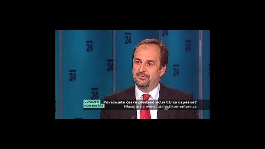 Video Události, komentáře s ministrem zahraničních věcí Janem Kohoutem
