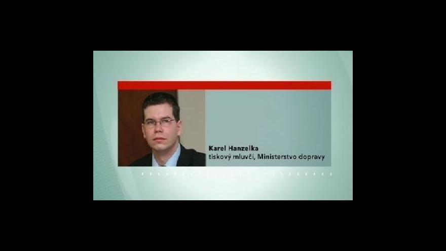 Video Vyjádření tiskového mluvčí ministerstva dopravy Karla Hanzelky