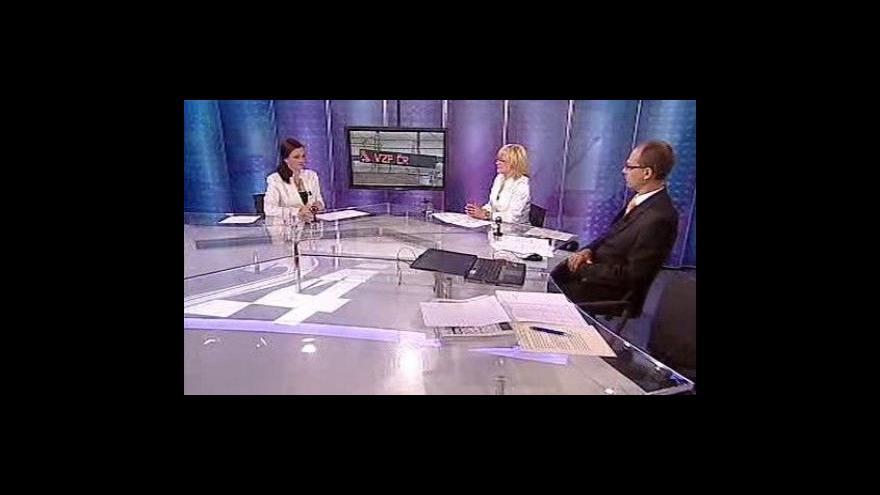Video Hana Kadečková a Radek Papp ve Studiu ČT24