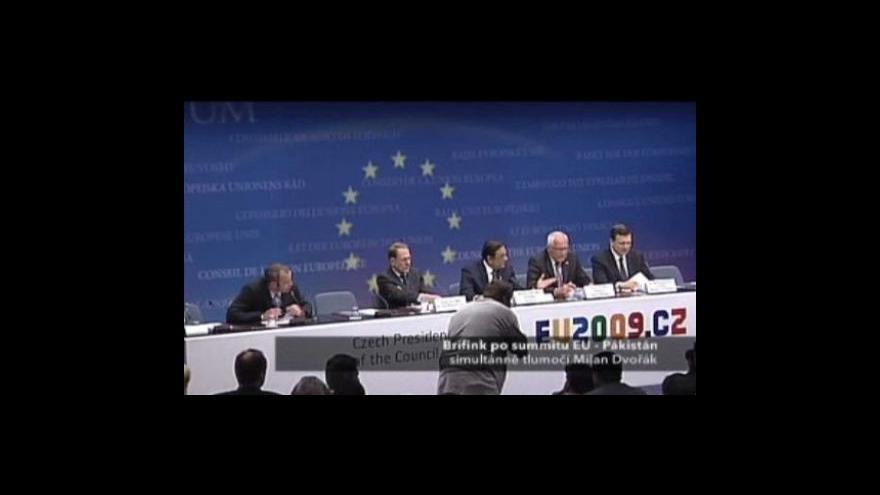 Video Brífink po summitu EU-Pákistán - I. část