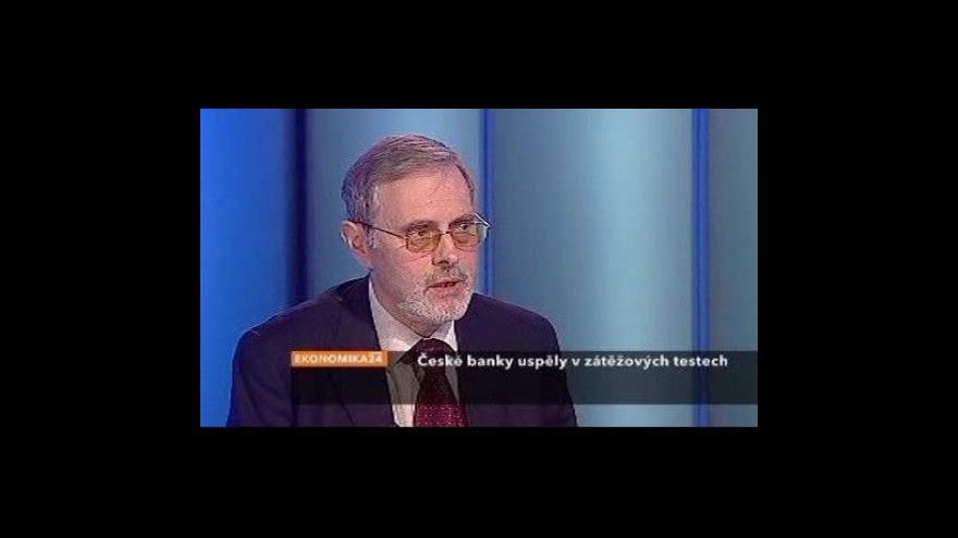 Video Ekonomika ČT24: Zátěžové testy českých bank