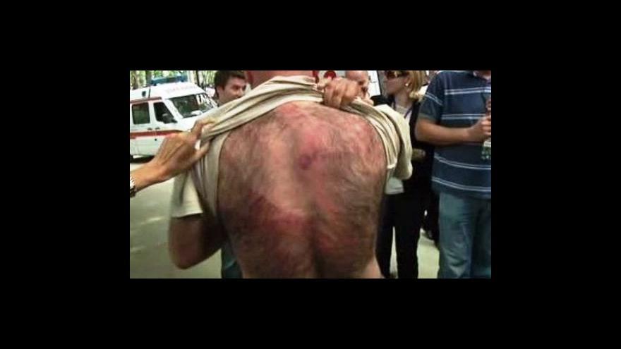 Video Gruzínská policie násilně rozehnala demonstraci
