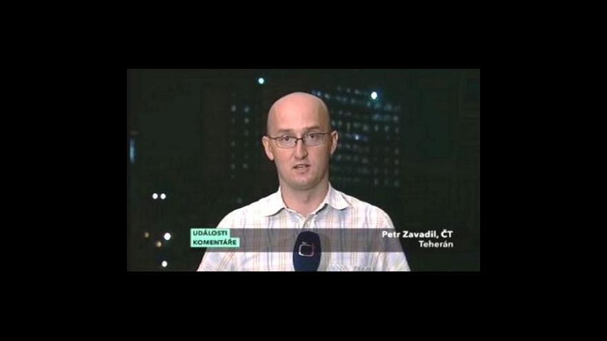 Video Vstup Petra Zavadila v Událostech, komentářích