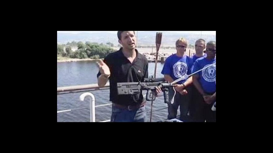 Video Izrael cvičí protipirátskou ochranku