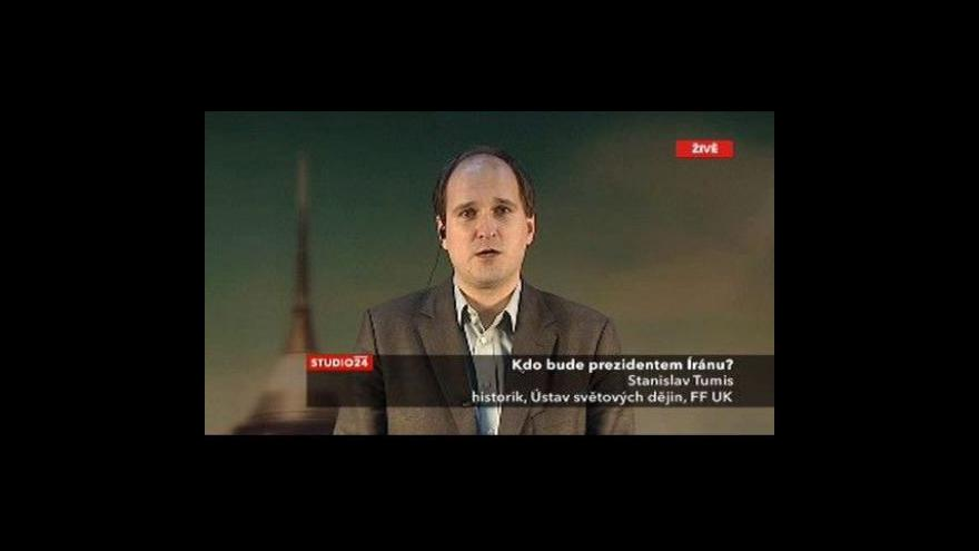 Video Studio ČT24 k volbám v Íránu