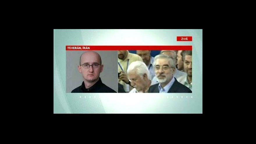 Video Telefonát Petra Zavadila z Teheránu