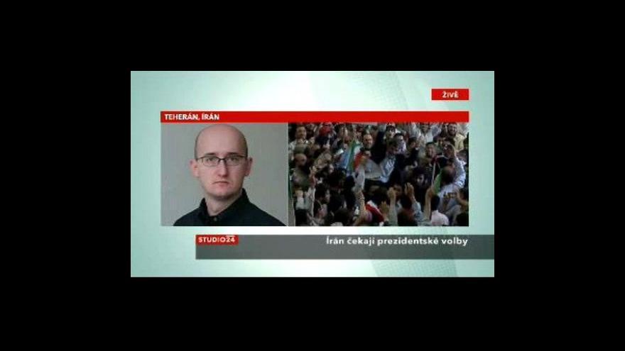 Video Írán v předvečer prezidentských voleb