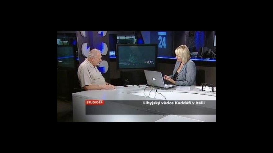 Video Jan Petránek a Vědunka Lunardi o Kaddáfího návštěvě