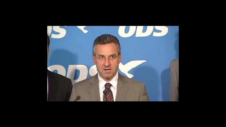 Video Tisková konference ODS k eurovolbám