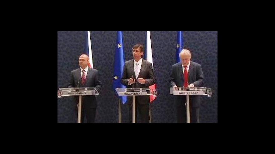 Video Brífink Jana Fischera po jednání vlády