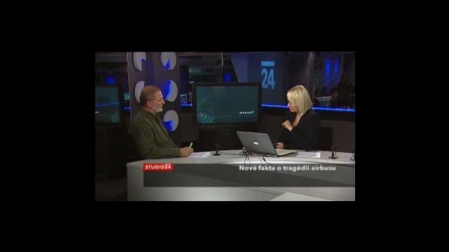Video Studio ČT24 o nehodě nad Atlantikem