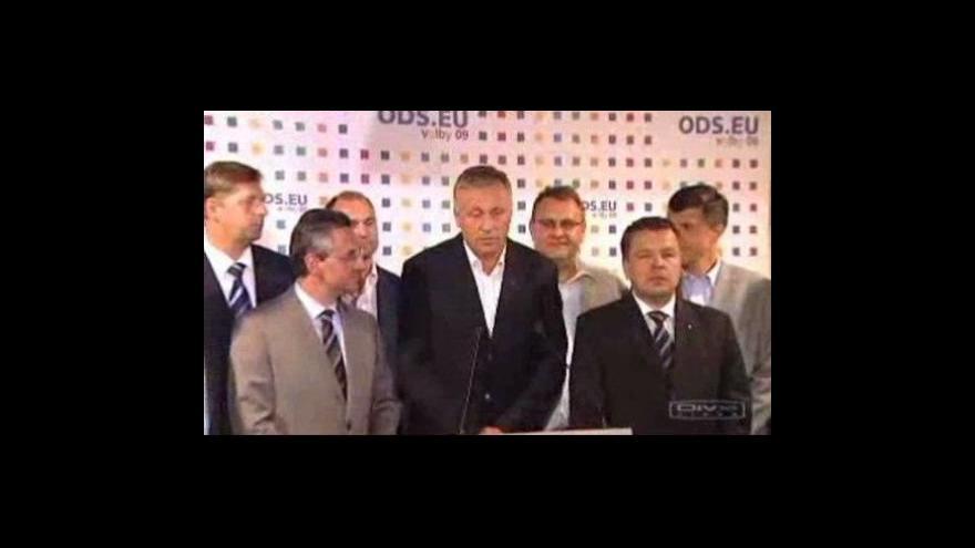 Video Brífink ODS k výsledkům eurovoleb