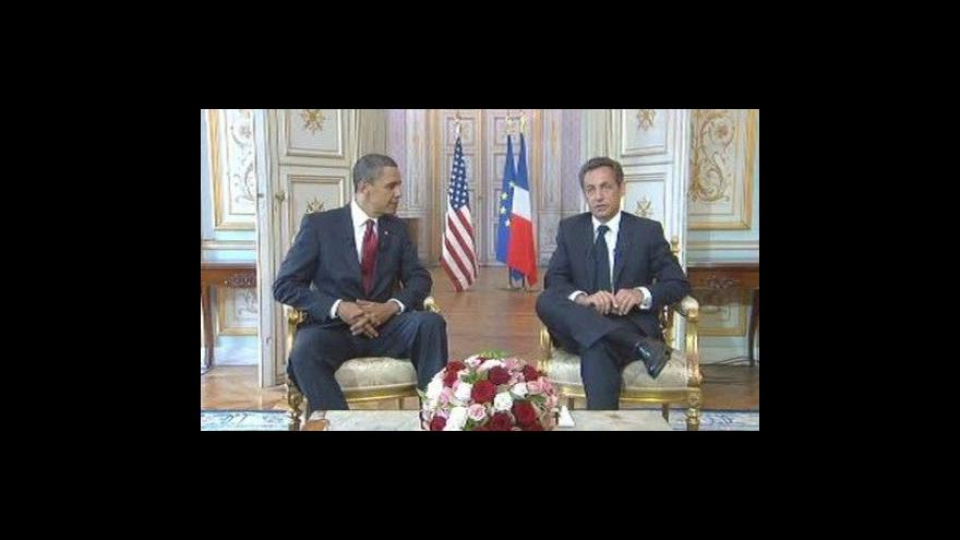 Video TK Baracka Obamy a Nicolase Sarkozyho