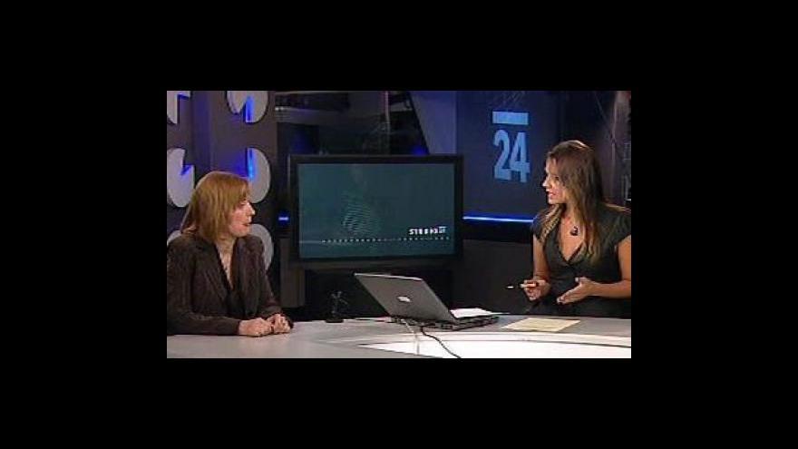 Video Rozhovor s Petrou Tesařovou ve Studiu ČT24