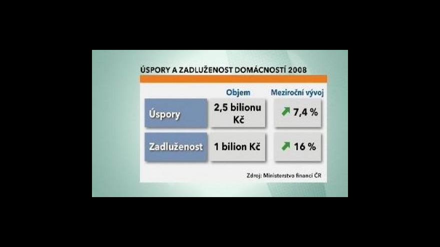 Video Češi raději spoří, než si půjčují
