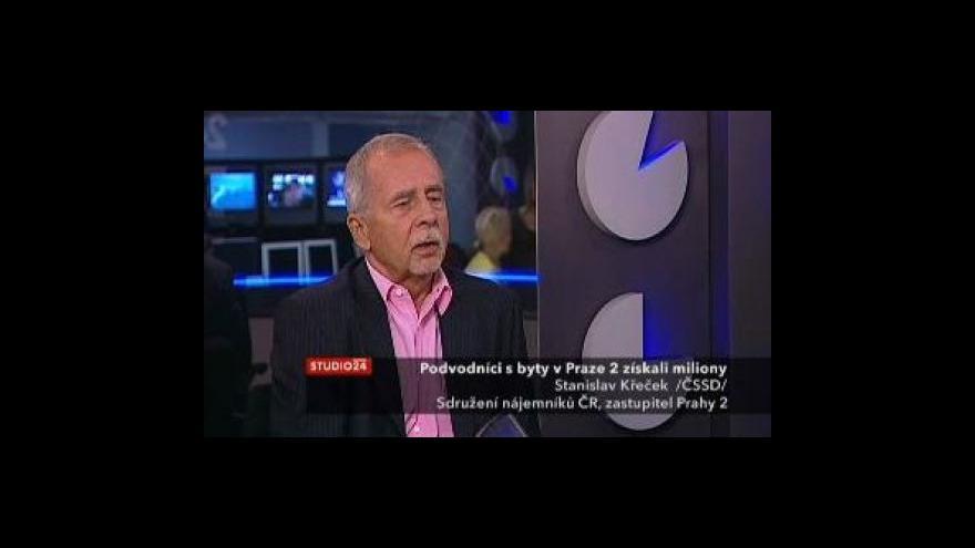 Video Stanislav Křeček ve Studiu ČT24