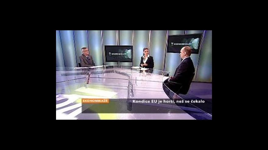 Video Rekordní propad evropské ekonomiky
