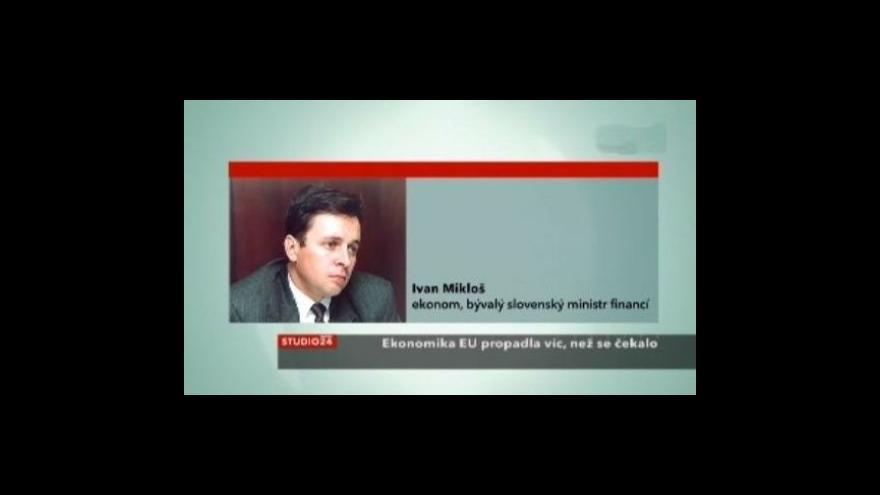 Video Rozhovor se slovenským ekonomem Ivanem Miklošem
