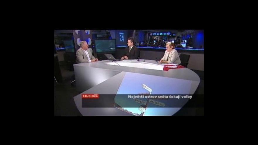 Video Studio ČT24 o volbách v Grónsku