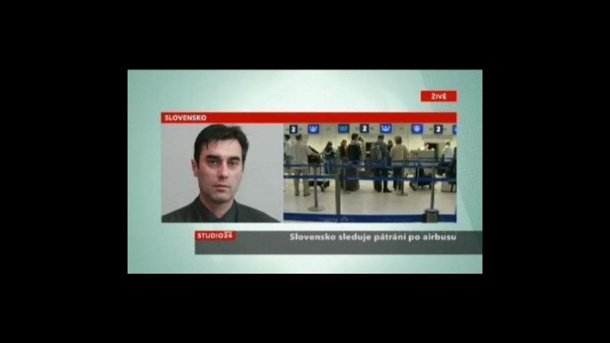 Video Studio ČT24 - Slovensko sleduje pátrání po letadle Air France