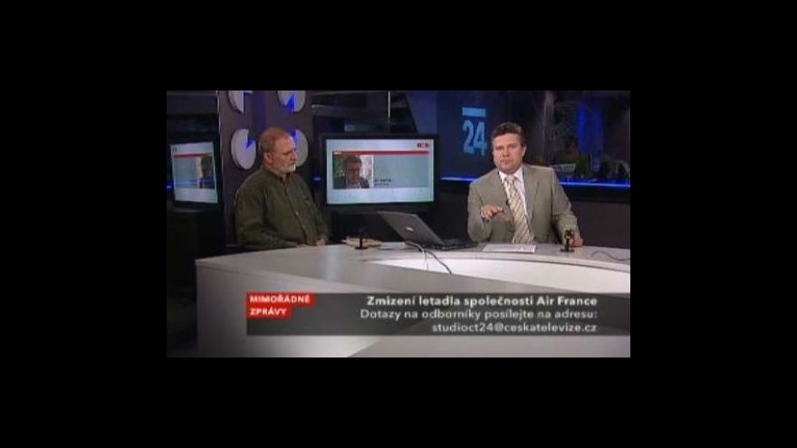 Video Jiří Slavíček a Martin Velek ve Studiu ČT24