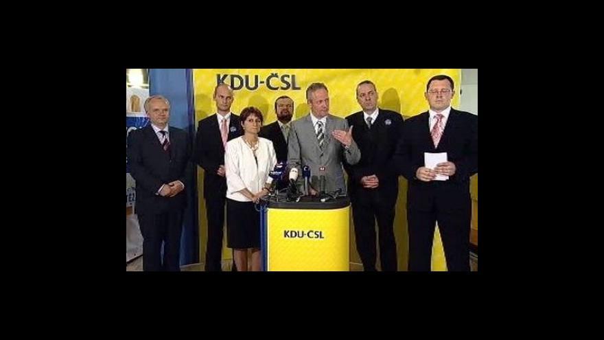 Video Brífink vedení KDU-ČSL po skončení sjezdu