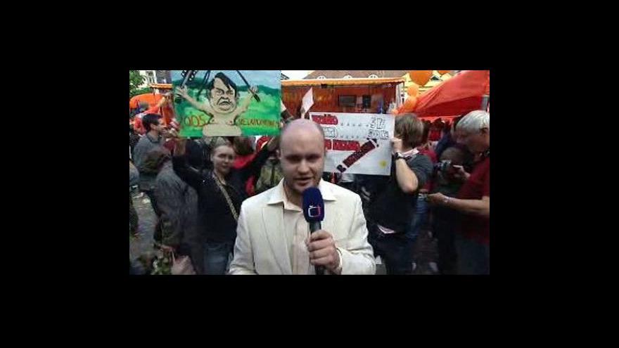 Video Luboš Rosí živě z mítinku ČSSD