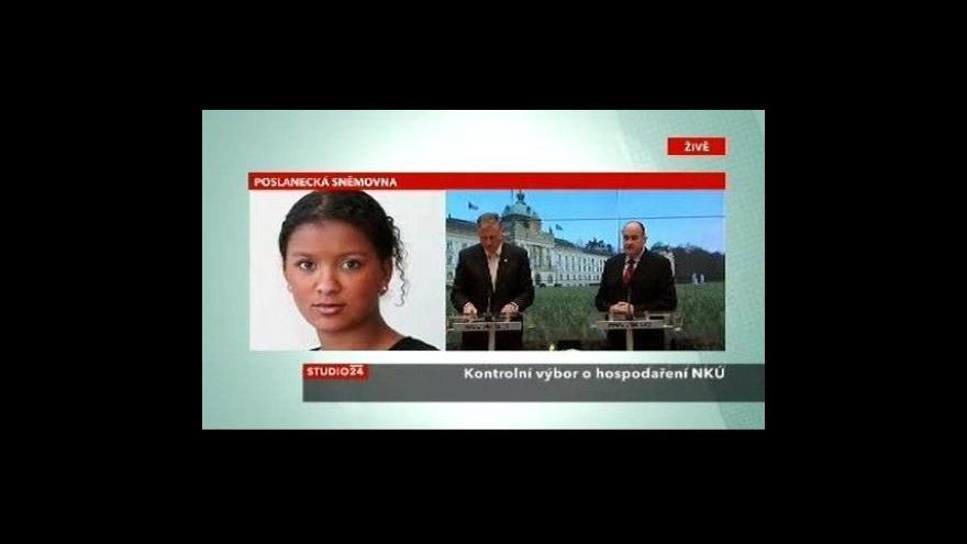 Video Studio ČT24 - Zpráva poslaneckého výboru o hospodaření NKÚ