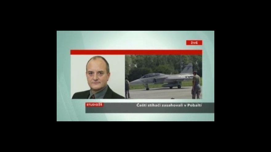 Video Studio ČT24 o letounech JAS-39 Gripen