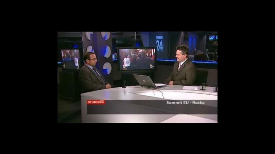 Video Studio ČT24 o summitu EU-Rusko