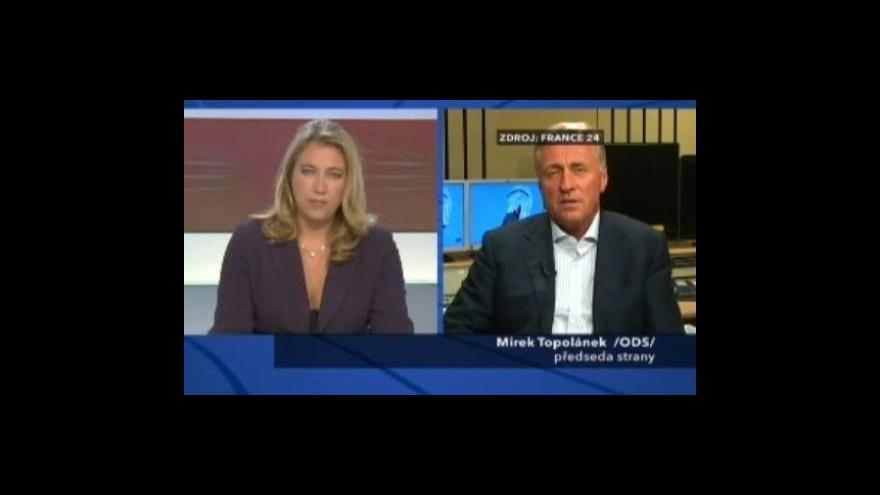 Video Topolánek promluvil o vztazích se Sarkozym