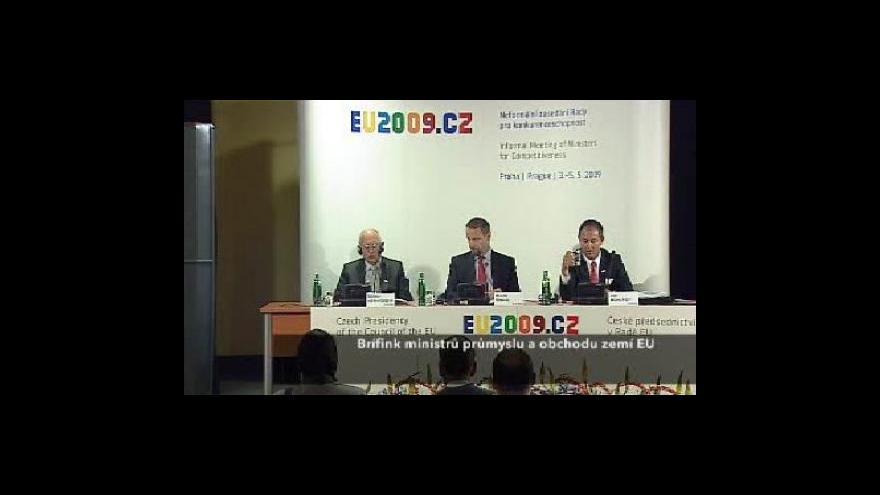 Video Brífink po setkání ministrů průmyslu a obchodu EU