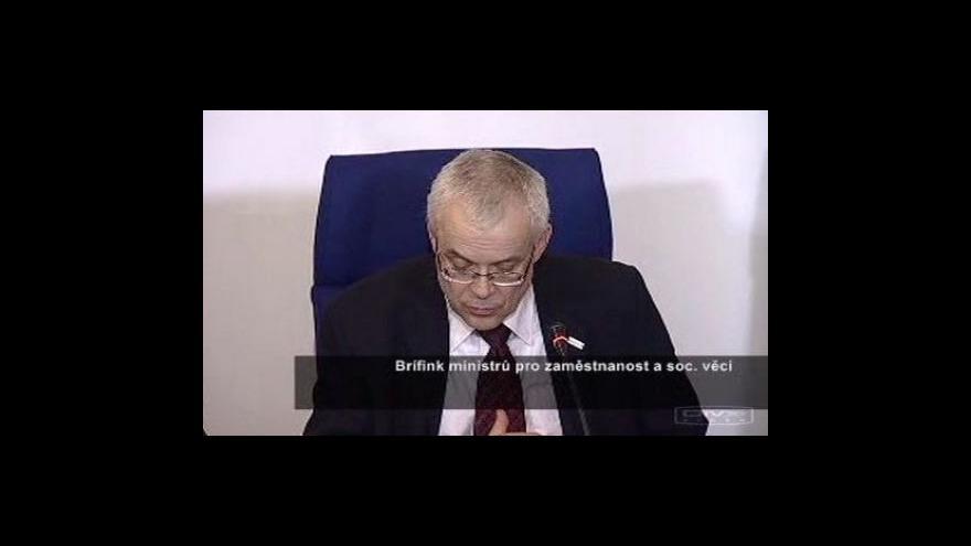 Video Brífink po jednání ministrů pro zaměstnanost a sociální politiku