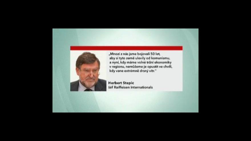 Video Reportáž o tlaku evropských bank