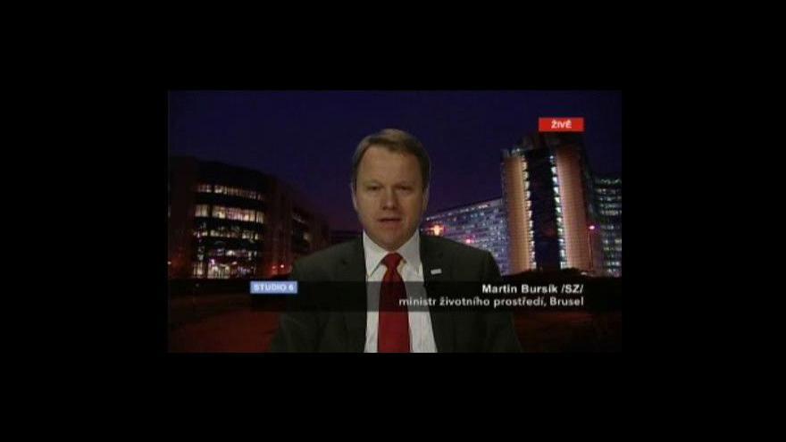 Video Ministr Martin Bursík ve studiu ČT24